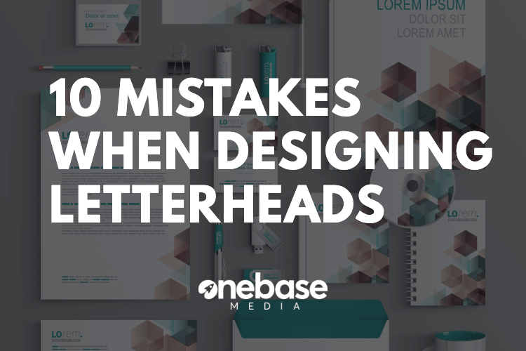 10 mistakes when designing business letterheads