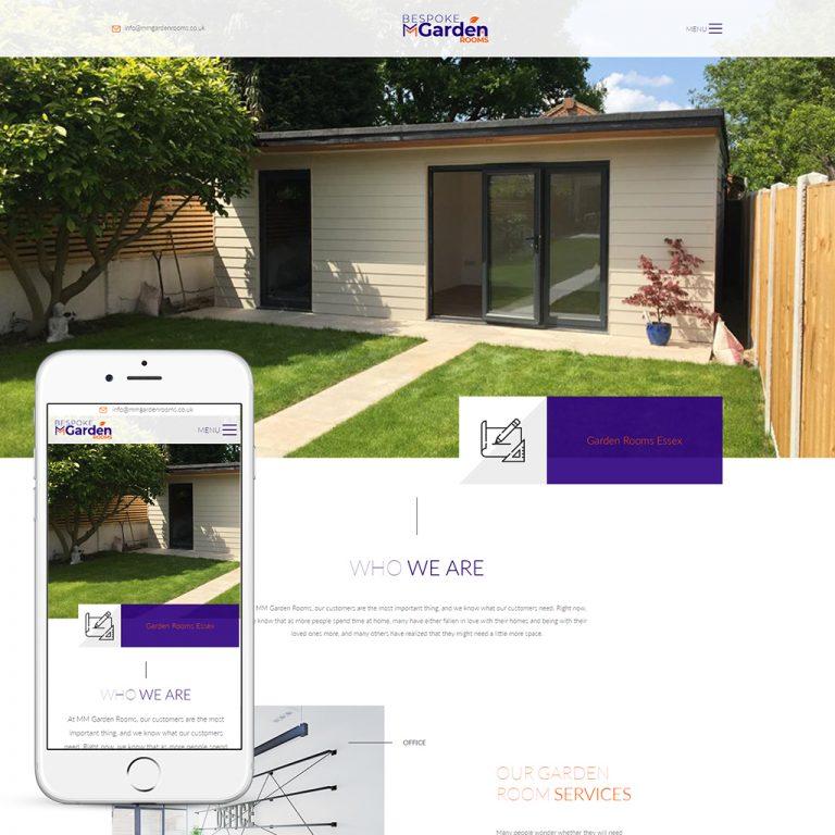 garden room website design