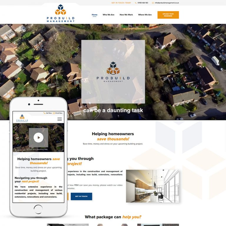 Property refurbishment website design