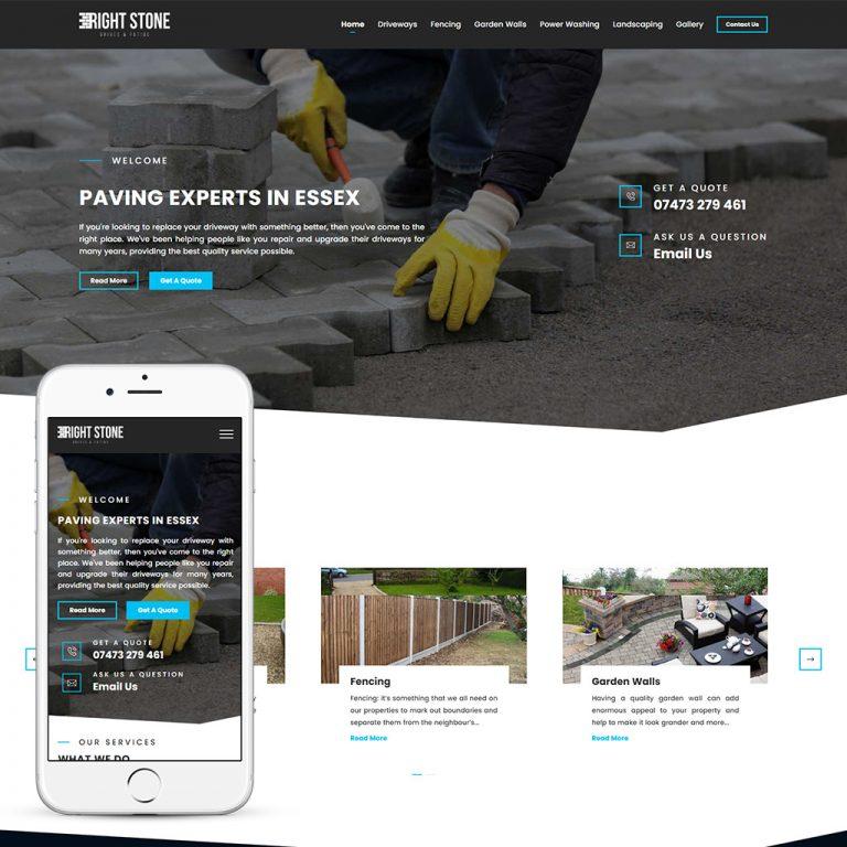 paving web design